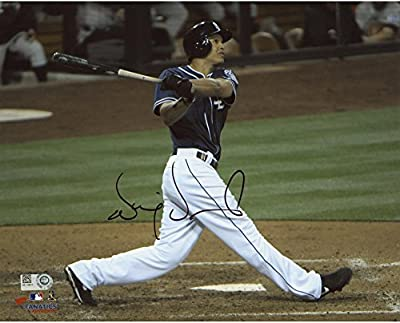 "Will Venable San Diego Padres Autographed 8"" x 10"" Blue Horizontal Hit Photograph - Fanatics Authentic Certified"