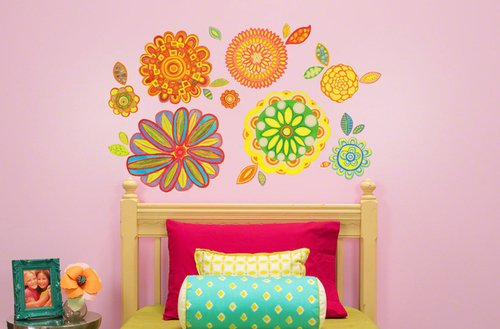 Oopsy Daisy 28 by 35-Inch Peel and Place Radiant Flowers by Andrew Daniel, Small