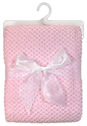 Stephan Baby Ultra Soft Popcorn Fleece Blanket, Pink