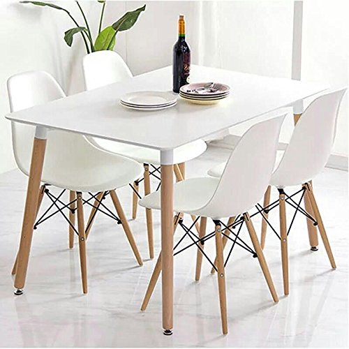 Crazygadget charles ray eames inspired eiffel dsw retro for White and wood dining table and chairs