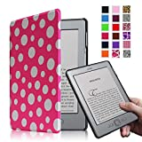 Fintie Kindle 5 & Kindle 4 Ultra Slim Case - The Thinnest and Lightest PU Leather Cover with Magnet Closure (Only Fit Amazon Kindle With 6'' E Ink Display, does not fit Kindle Paperwhite, Touch, or Keyboard), Polka Dot