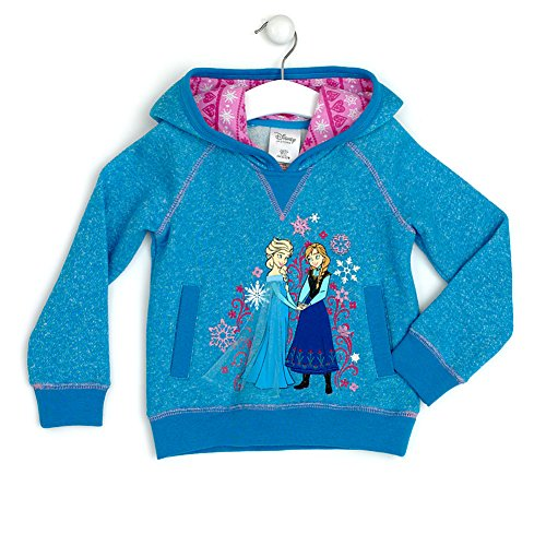 Disney Store Frozen Princess Elsa And Anna Hoodie Sweatshirt Size 4 Years (4T)