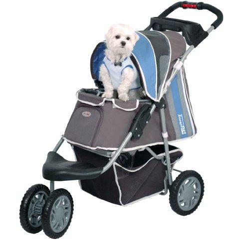 Artikelbild: InnoPet 'First Class' Hundebuggy Jogger Buggy Hundetasche Hundewagen Pet Stroller blau grau
