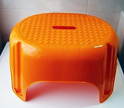 TRITTHOCKER 43x34x25cm orange Trittstufe Fußbank Fußhocker Kinderhocker Hocker 7 von Eco - Gartenmöbel von Du und Dein Garten