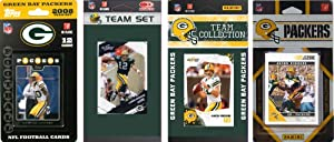 NFL Green Bay Packers Four Different Licensed Trading Card Team Sets by C&I Collectables