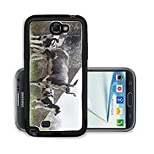 buy Liili Premium Samsung Galaxy Note 2 Aluminum Snap Case Sheep With Two Lambs In Meadow Near Bunker Photo 19407671