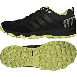 adidas Outdoor Women\'s Kanadia 7 Trail GTX Trail Running Shoe, Black/Semi Frozen Yellow/Chalk White, 7.5 M US