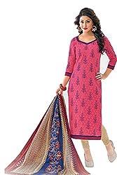 Gugaliya Women's Unstiched Superior Cotton FASHION SALWAR,KAMEEZ & DUPATTA Suit ( P521 )