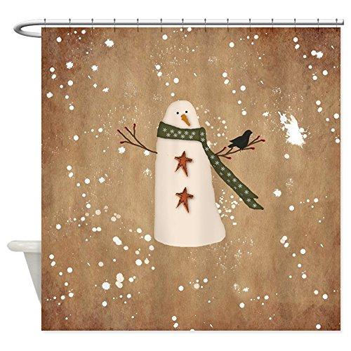 Snowman Shower Curtain Set