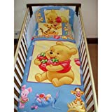 Disney Winnie the Pooh with Strawberries Bedding Set for Cot or Cotbed (Cotbed - 140 x 70cm)