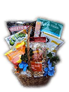 Buy healthy food gift baskets - Well Baskets Women\'s Healthy Sampler Gift Basket
