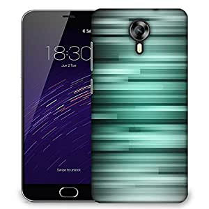 Snoogg Black And Grey Strips Designer Protective Phone Back Case Cover For Meizu M2