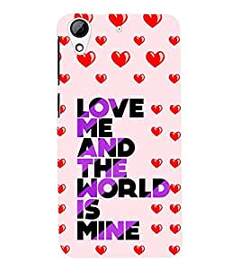 printtech Love Quotes Back Case Cover for HTC Desire 626