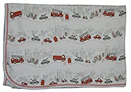 Kissy Kissy Baby-Boys Infant City Trucks Print Receiving Blanket-Multicolored-One Size