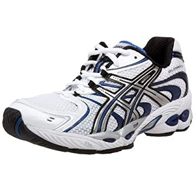 ASICS Men's GEL-Nimbus 11 Running Shoe,White/Lightning/Brilliant Blue,16 D US