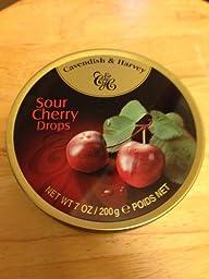 Cavendish & Harvey Sour Cherry Drops 200g QUALITY BRITISH FOOD 0102