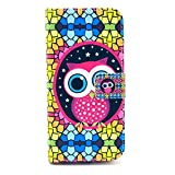 For Apple Iphone 6 Case,nancy's Shop Sparkle Wallet Pu Leather [Stand Feature] Type Magnet Design Flip Protective Credit Card Holder Pouch Skin Case Cover for Iphone 6(4.7-inch)(2014)-- (Cute Owl Colourful)