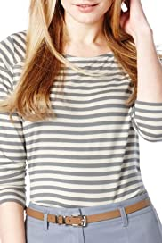 Autograph Military Striped Top [T50-9070-S]
