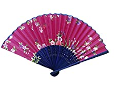 buy Yueke Japanese Design Handheld Folding Fan Silk Bamboo Fan Sandalwood Fan For Women And Ladies (7)