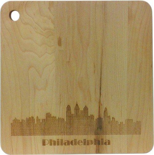 J.K. Adams Middlebury 9-1/2-Inch-By-9-1/4-Inch-By-1/2-Inch Maple Wood Cutting Board, Square
