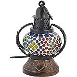Rajkruti Handicraft Wooden Glass Mosaic Wall Hanging Table Lamp Show Piece (12 Cm X 9 Cm X 18 Cm,WH255)