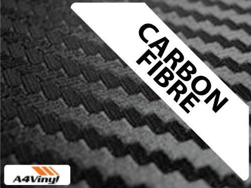 Black Carbon Fibre Vinyl Wrap A4 297x210mm 2x Self-adhesive Fiber Sheets