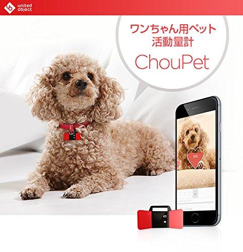 <国内正規品 > Android&iPhone対応 ChouPet(シューペット) Bluetooth対応アプリと連動していつでも愛犬の健康をチェックできる活動量計 肥満などの病気の防止 UO7992