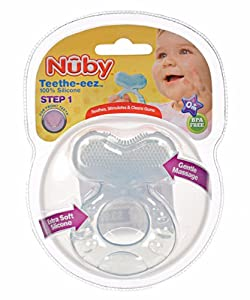 Nuby Teethe-eez Teether - blue, one size
