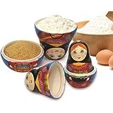 Kitchenista Measuryoshka Ceramic Measuring Cups, Alenkaya, Set of 6