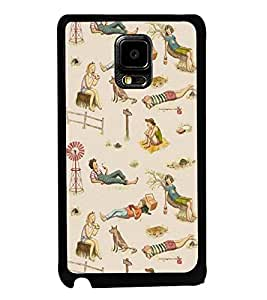 Fuson Premium 2D Back Case Cover Moment in Beach With Pink Background Degined For Samsung Galaxy Note Edge::Samsung Galaxy Note Edge N915