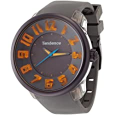 Tendence Fantasy 3H Unisex Quartz Watch with Grey Dial Analogue Display and Grey Plastic or PU Strap T0630002