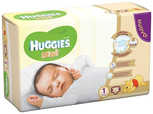 Huggies Bebè, 28 Pannolini, Taglia 1 (2-5 kg)