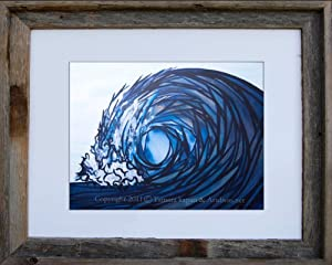 Amazon.com: Framed Abstract Art Print by Tamara Kapan 11 x 14 inch