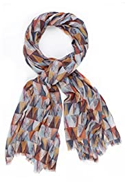 Limited Collection Lightweight Triangle Print Scarf