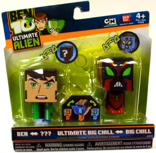 Buy Low Price Bandai Ben 10 Ultimate Alien AlterAlien 2.5 Inch Transforming Action Figures Ben to NRG Big Chill to Ultimate Big Chill (B003O5J9VO)