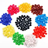 150 Sets of KAM Size 20 T5 Plastic Button Fastener Snap Studs Snaps Resin Poppers Pop Fasteners (10 colors: White Black Red Blue Khaki Yellow Green Purplish Red Brown..)