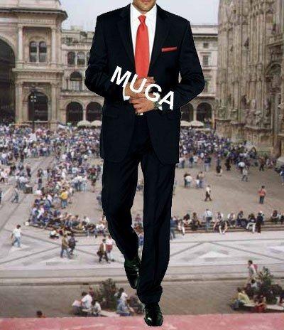 MUGA mens Suit, two pieces, Black, size 34R (EU 44)
