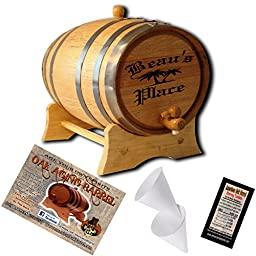 Personalized American Oak Aging Barrel - Design 024: Your Place (10 Liter)