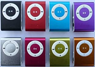Mini Fashoin Clip Metal MP3 Music Player with Earphone & USB Cable , Support 1 - 32GB SD Card (Mixed Colour)