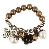 Shining Diva Fashion Multiple Charms Beaded Bracelets for girls