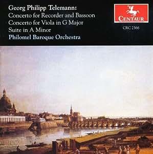 Concerto for Recorder & Basson / Cto for Viola