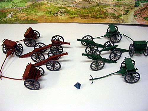 54mm Gettysburg Cannon & Limber Wagon Set (6pc ea.) (Bagged) by BMC