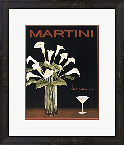 martini-by-kathleen-richards-babcock-framed-art-print-wall-picture-espresso-brown-frame-with-hanging