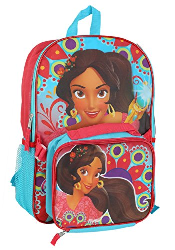 "Princess Elena Backpack w Lunch Kit Standard 16"" tall x 12.5"" wide x 4"" deep"