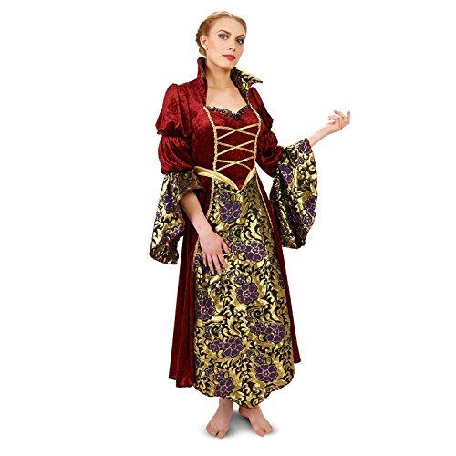 Velvet Brocade Renaissance Lady Adult Plus Costume 1X (Fair Maiden Renaissance Costume)