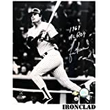 Lou Piniella Signed 16x20 Photo w/ 1969 AL ROY Insc