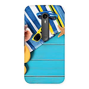 Impressive Cool Beach Print Back Case Cover for Moto G3