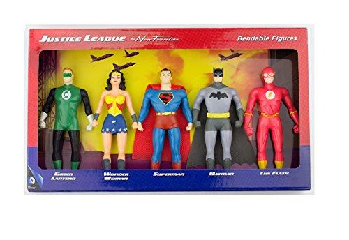 DC Comics Justice League New Frontier Bendable Action Figures Superhero Set