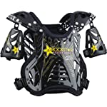 NEW ANSWER-RACING APEX DEFLECTOR CHEST PROTECTOR, ROCKSTAR/BLACK, XL/180-250 LBS