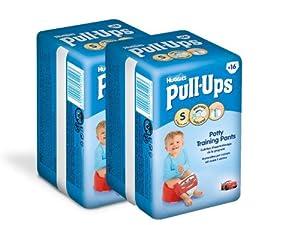 Huggies Pull Ups Convenience Garçon Taille 4 (8-15 kg) x 16 Couches Lot de 2